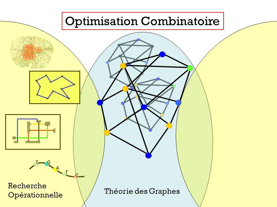 T T C A G Théorie des Graphes Optimisation Combinatoire Recherche Opérationnelle