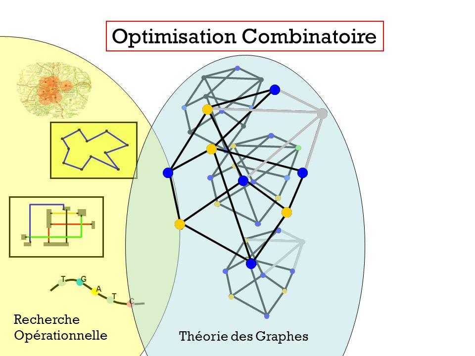 T T C A G Optimisation Combinatoire Recherche Opérationnelle Théorie des Graphes