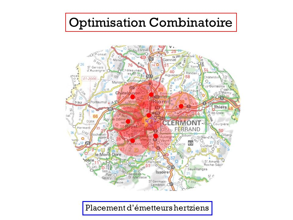 Optimisation Combinatoire Placement démetteurs hertziens