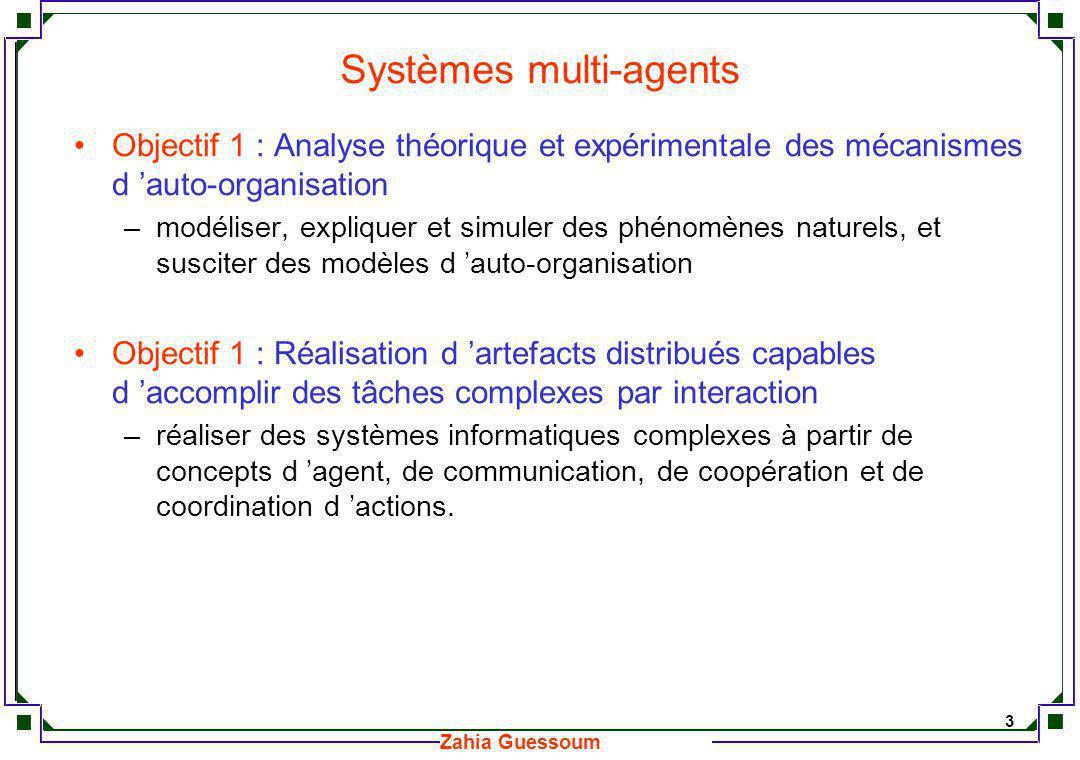 14 Zahia Guessoum Mécanismes de coordination Différentes formes de coordination multi-agents peuvent être identifiées.