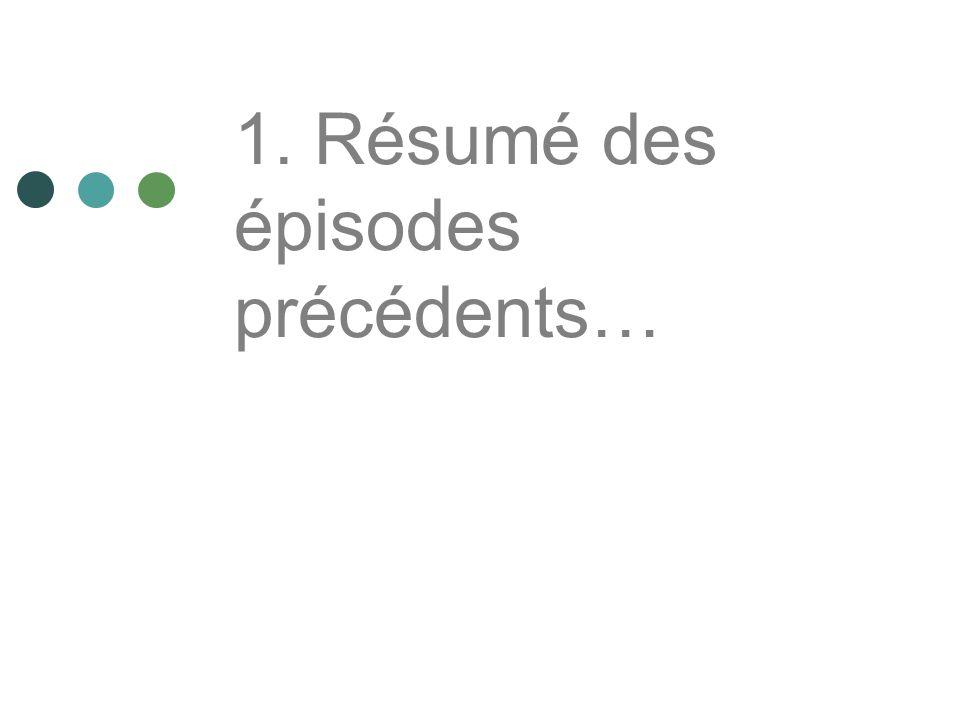 1. Résumé des épisodes précédents…