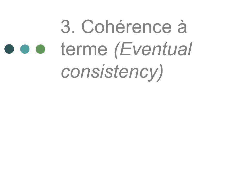 3. Cohérence à terme (Eventual consistency)