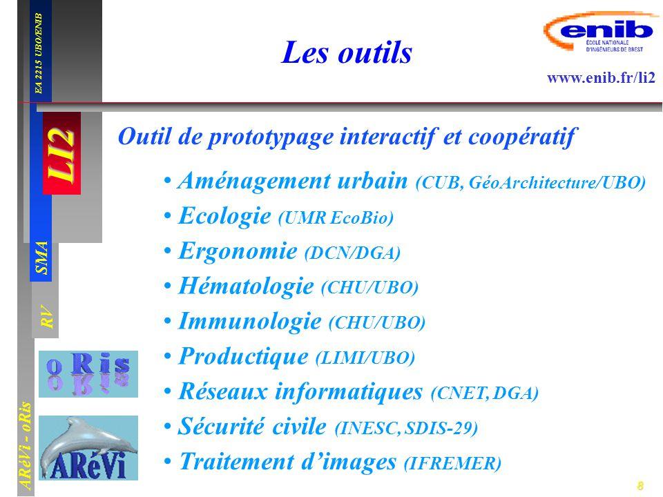 9 LI2 SMA EA 2215 UBO/ENIB ARéVi - oRis www.enib.fr/li2 RV Plan LI2 Agent-cellule Conclusion Simulation en hématologie