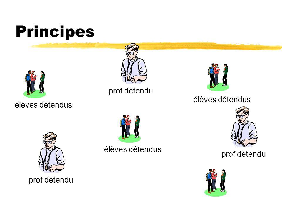 Principes prof détendu élèves détendus
