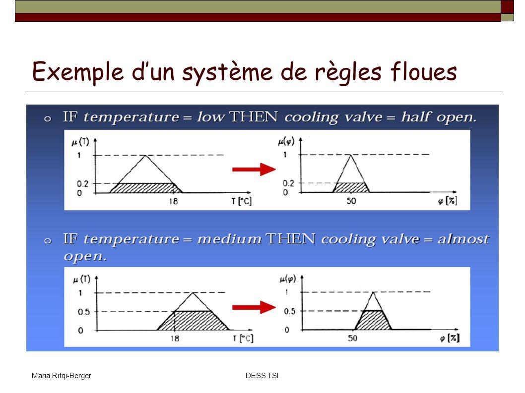 Maria Rifqi-BergerDESS TSI Exemple dun système de règles floues