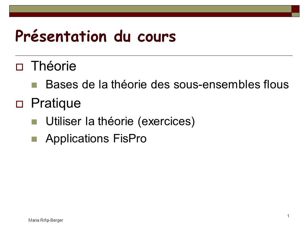 Maria Rifqi-Berger 2 Bibliographie « La logique floue », B.