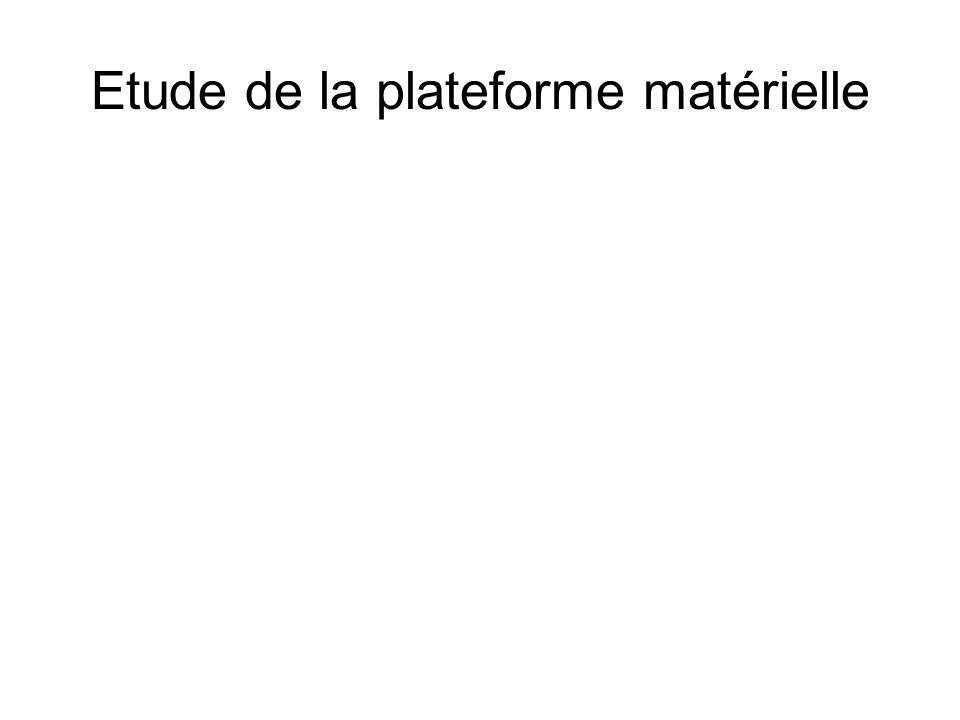 Etude de la plateforme matérielle