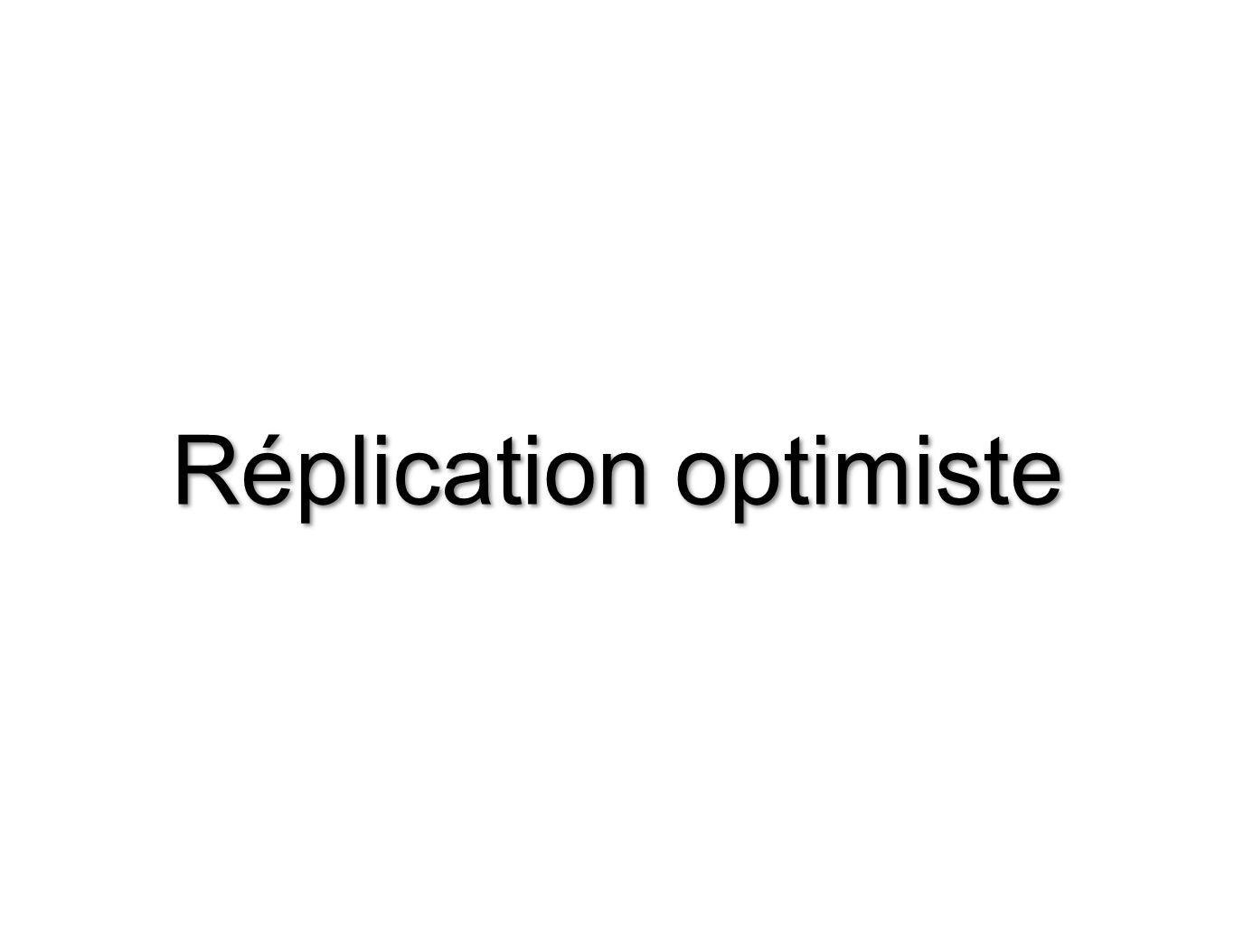 Réplication optimiste