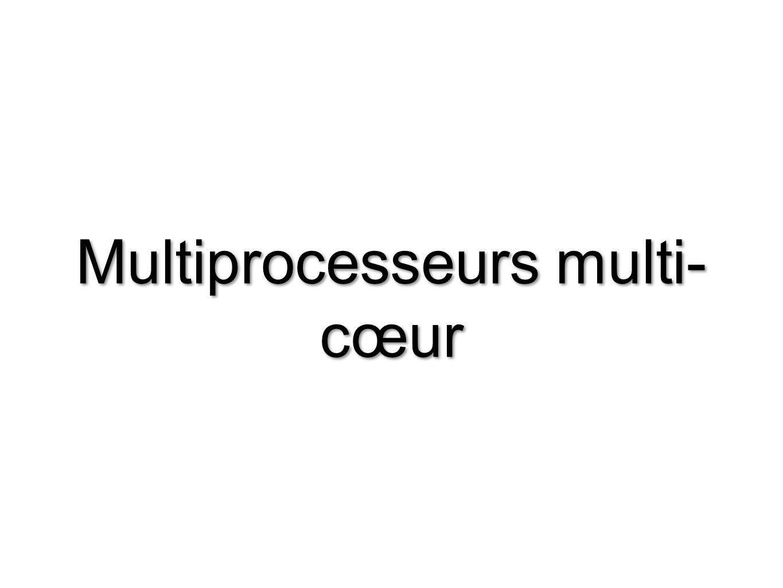Multiprocesseurs multi- cœur