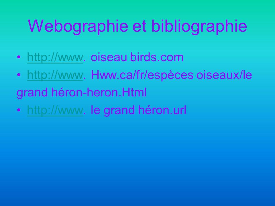 Webographie et bibliographie http://www.oiseau birds.comhttp://www http://www.