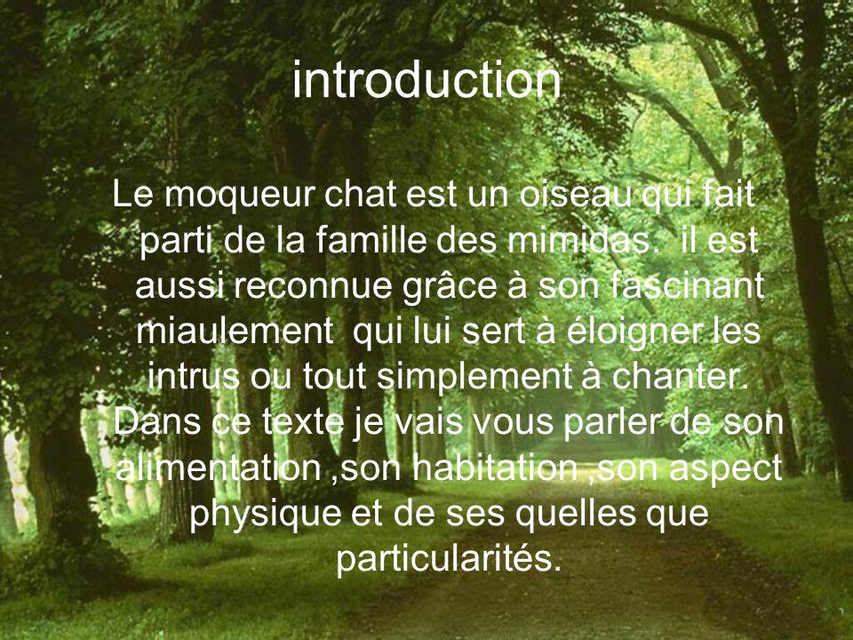 Table des matières Introduction Nourriture Habitat Aspect physique Vol Particularités Conclusion Résumé biographie