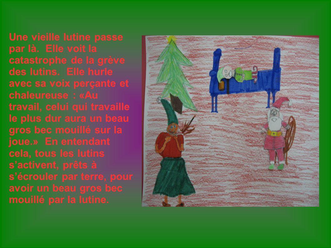 Finalement, tous les cadeaux sont prêts à temps.Romux, le chanceux, a le fameux gros bec mouillé.