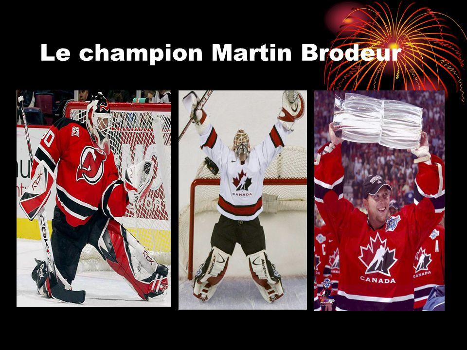 Le champion Martin Brodeur