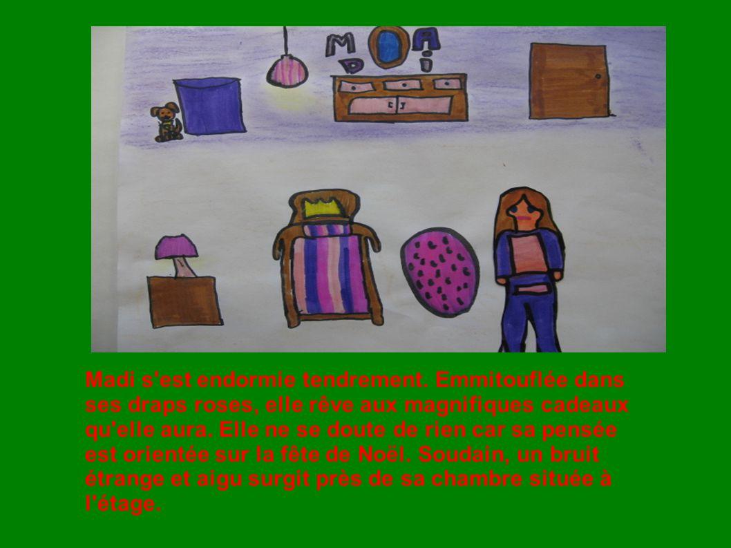 Aussitôt, Madi se cache dans son bac à toutou car elle entend des pas s approcher vers sa chambre.