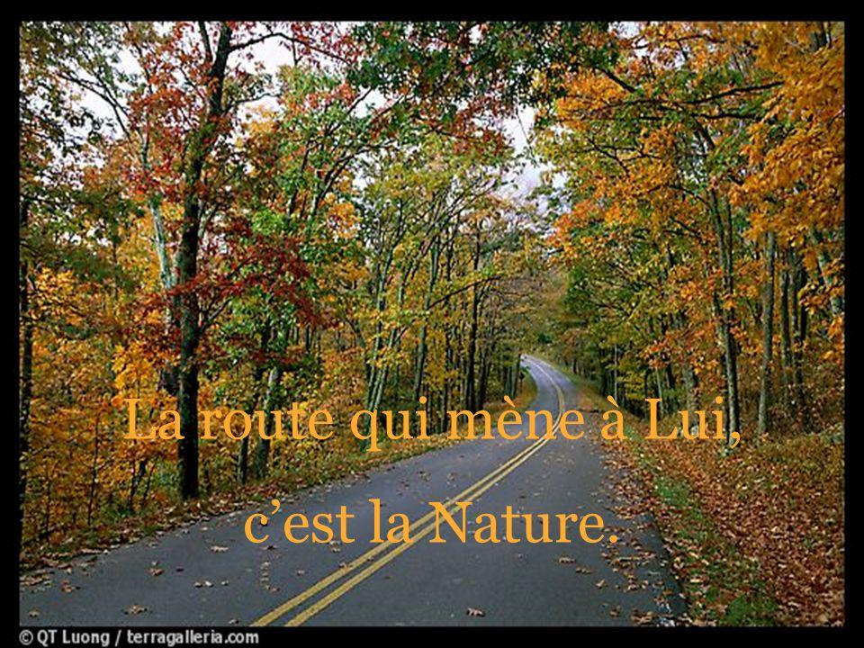 La route qui mène à Lui, cest la Nature.