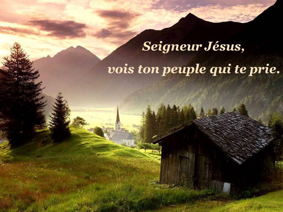 Seigneur Jésus, vois ton peuple qui te prie.
