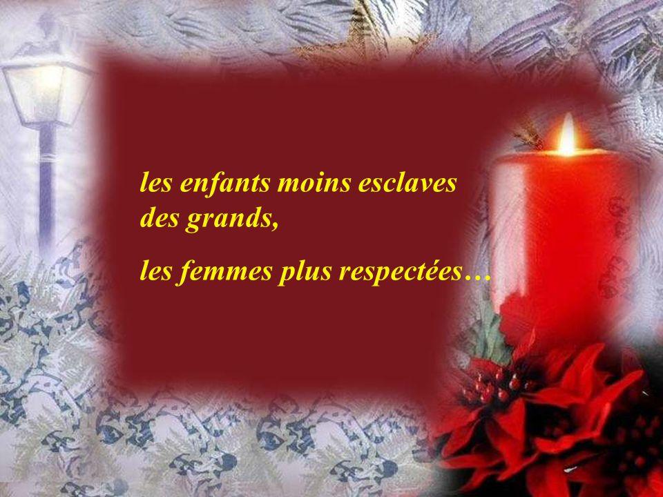 Noël que de désirs à traduire en actes, en réalités, en vie!