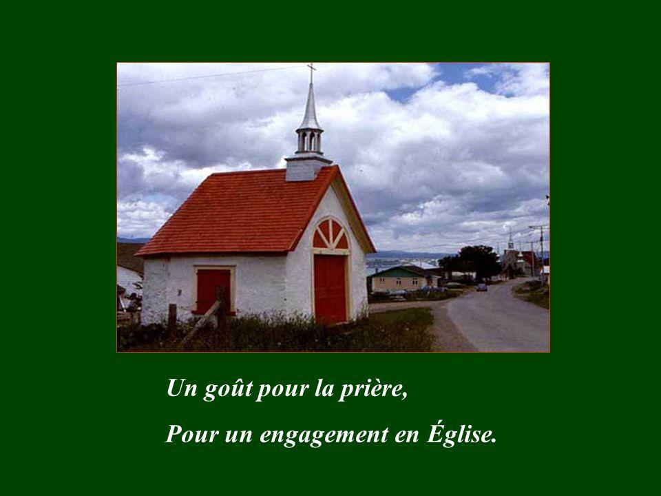 Un goût pour la prière, Pour un engagement en Église.