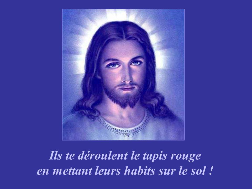 Tu vois Jésus, tous ceux que tu as guéris, relevés, pardonnés, sont là avec des palmes à la main pour tacclamer !