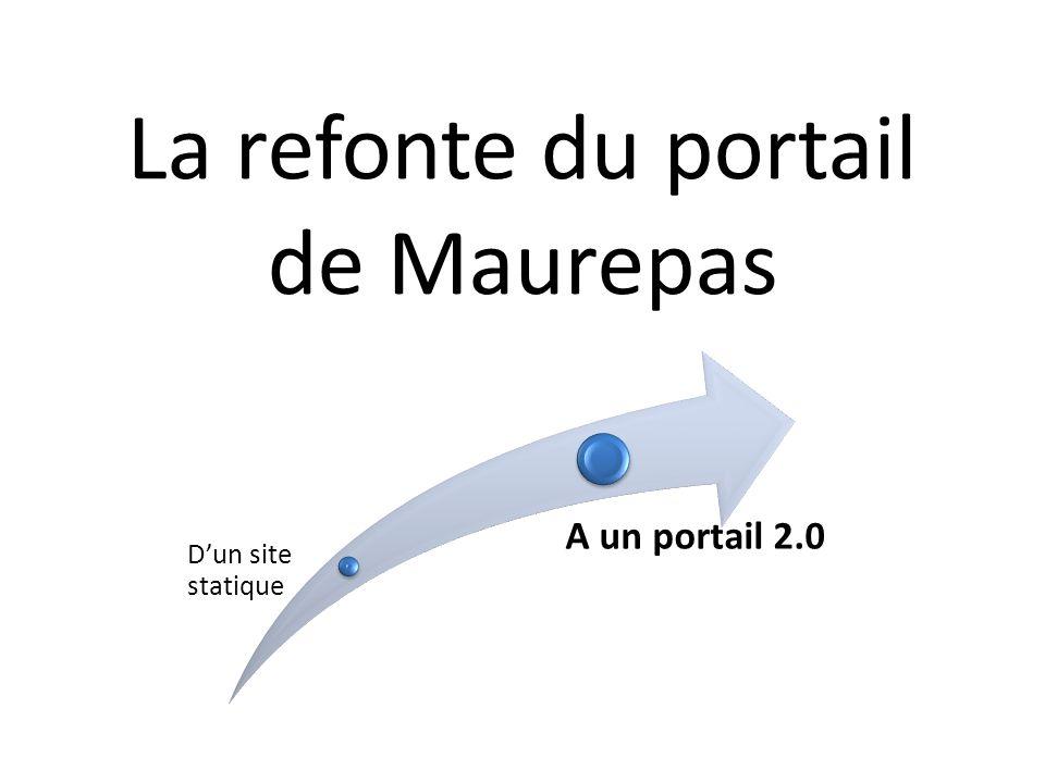La refonte du portail de Maurepas Dun site statique A un portail 2.0