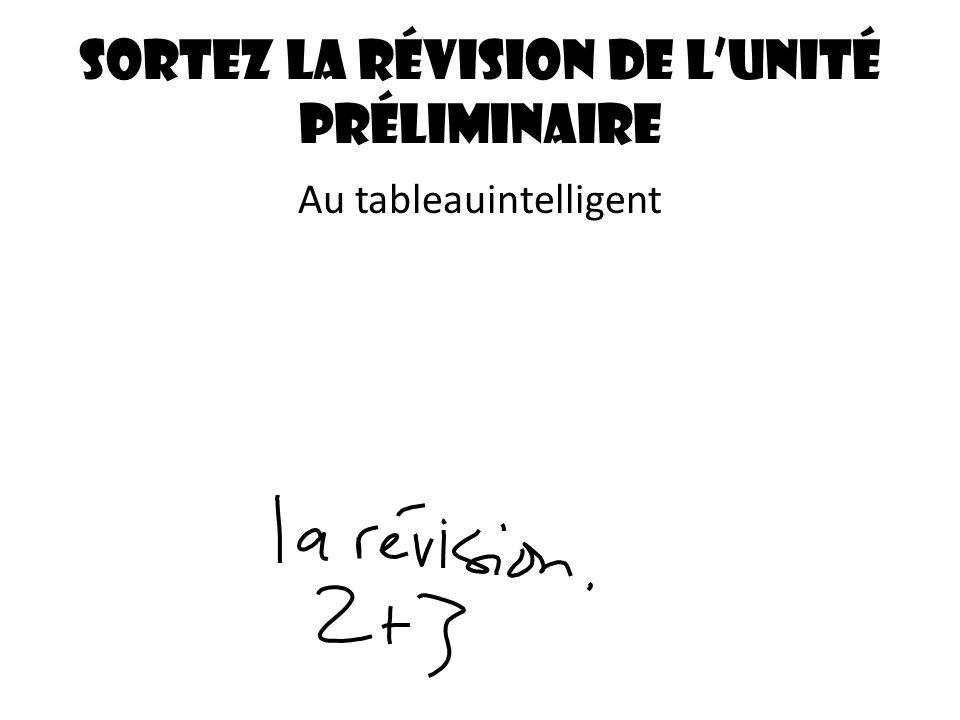 Sortez la révision de lunité préliminaire Au tableauintelligent