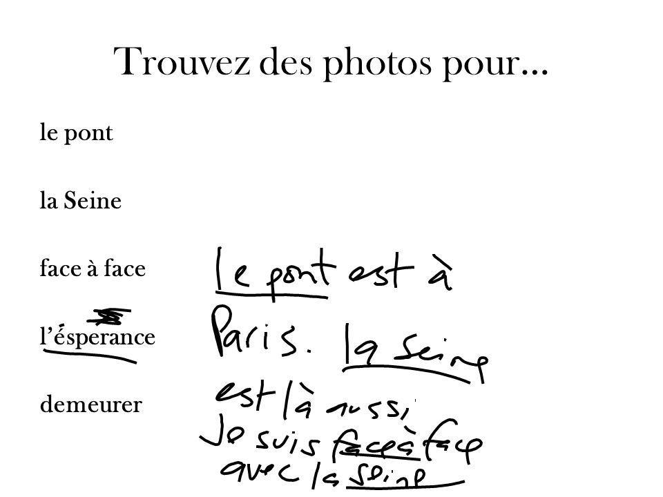 Trouvez des photos pour… le pont la Seine face à face lésperance demeurer