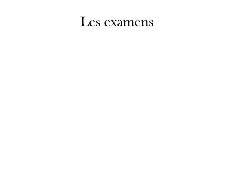 Les examens
