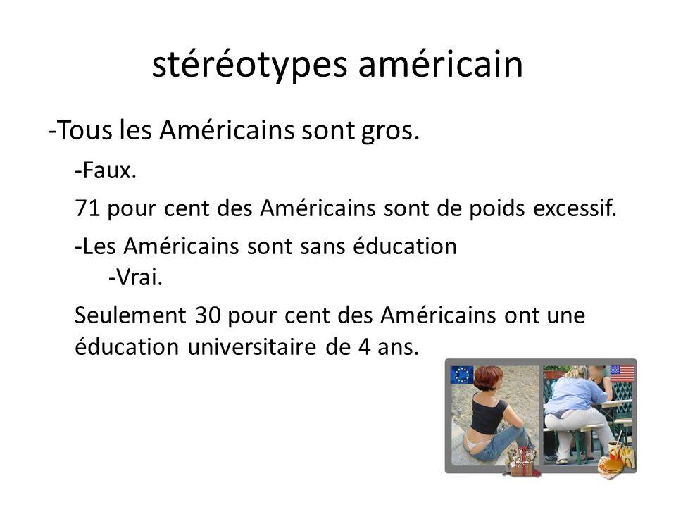 stéréotypes américain -Tous les Américains sont gros.
