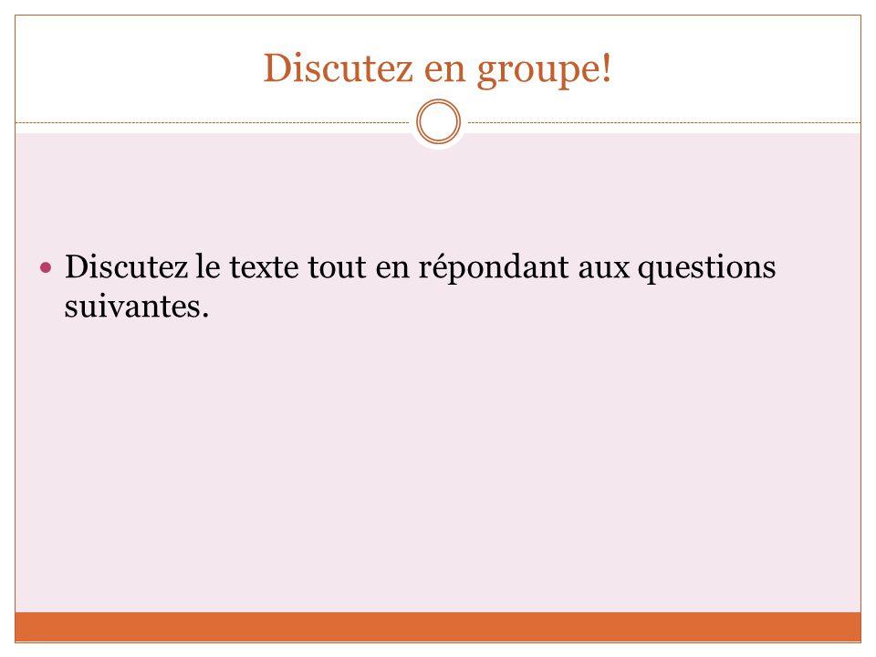 1.Comment trouvez-vous les Français. Que connaissez-vous deux.