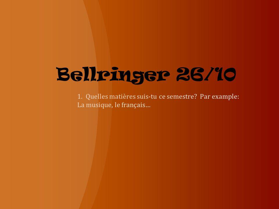 Bellringer 26/10
