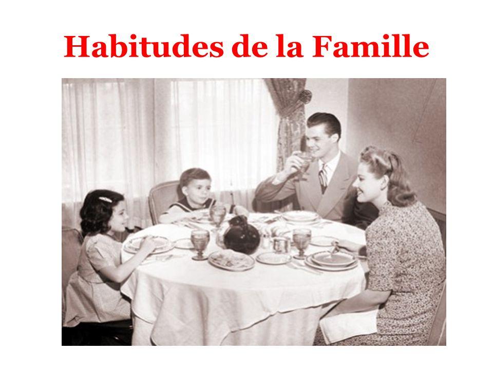 Habitudes de la Famille