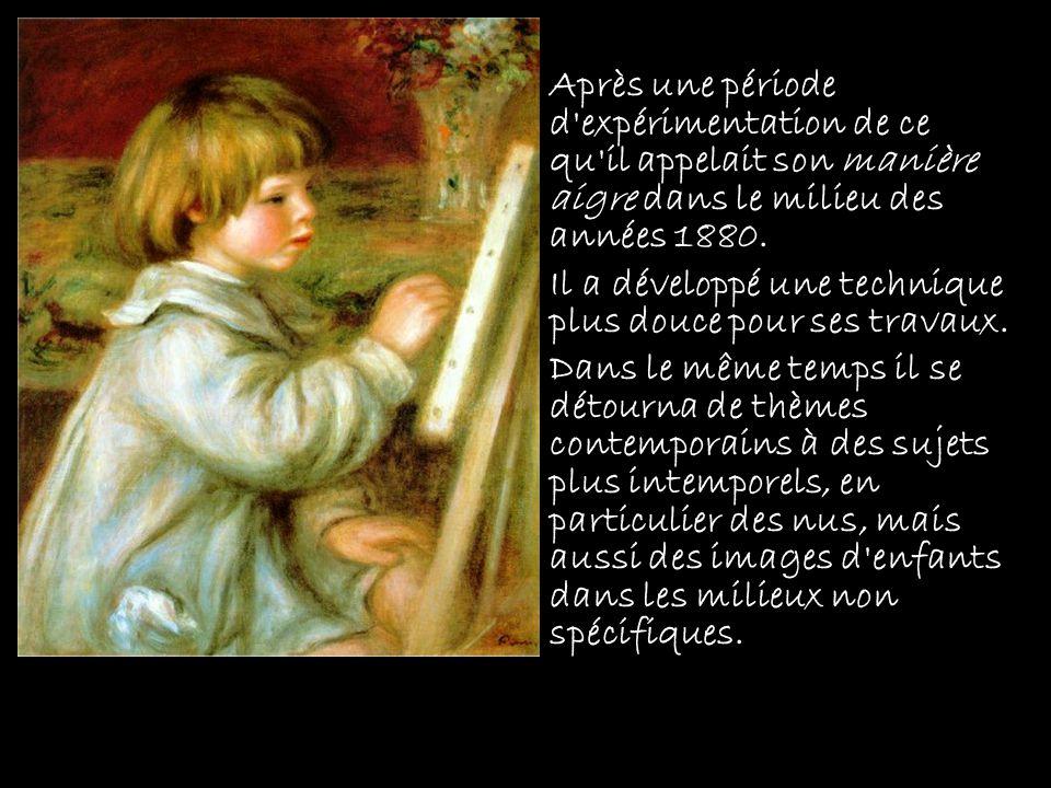 Dans les années 1890 Renoir a commencé à souffrir de rhumatismes.