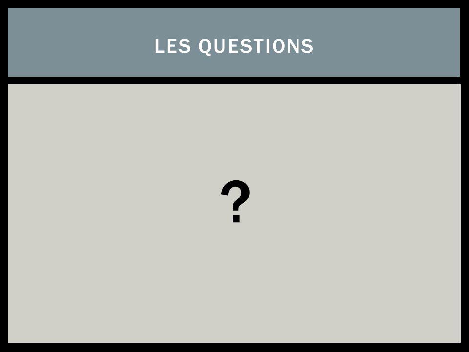 ? LES QUESTIONS