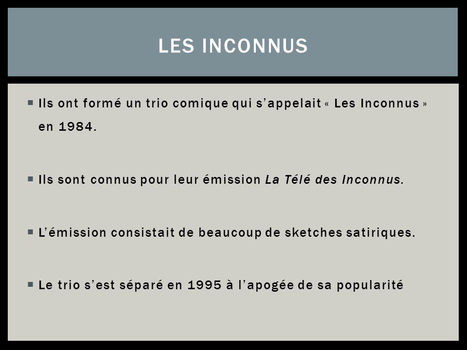 Après Pascal ont quitté Les Inconnus, il devenait réalisateur.