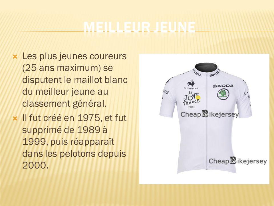 Les plus jeunes coureurs (25 ans maximum) se disputent le maillot blanc du meilleur jeune au classement général.