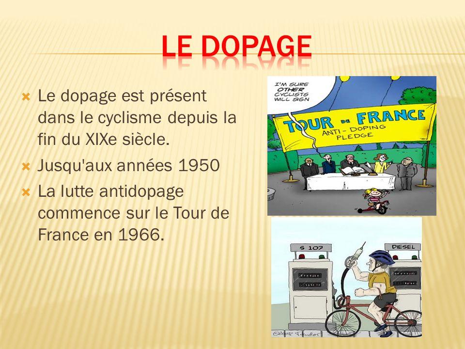 Le dopage est présent dans le cyclisme depuis la fin du XIXe siècle.