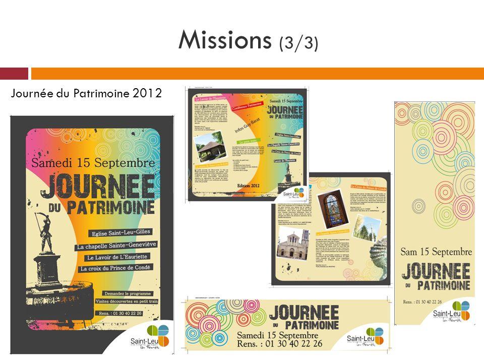 Missions (3/3) Journée du Patrimoine 2012