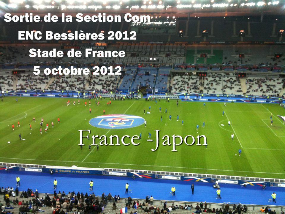 France -Japon Sortie de la Section Com ENC Bessières 2012 Stade de France 5 octobre 2012