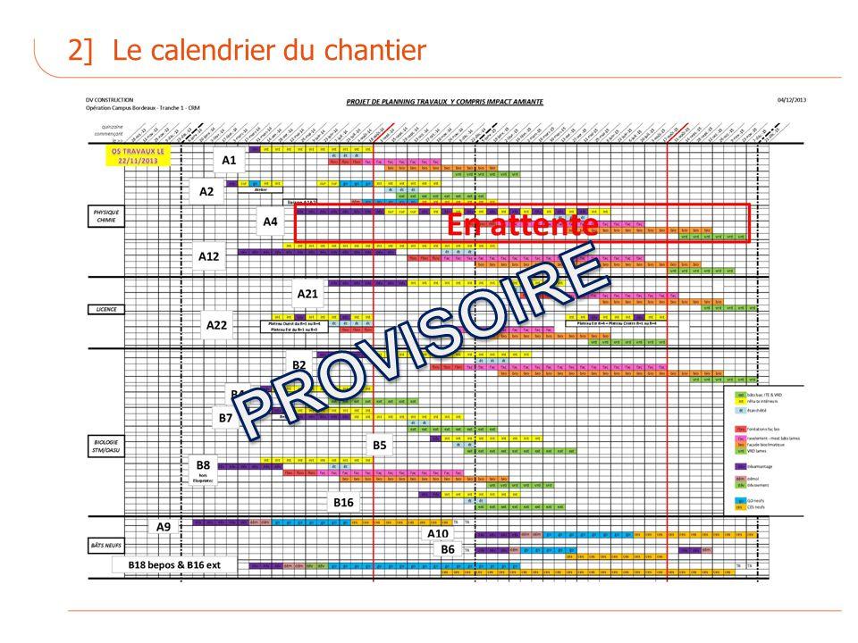 2] Le calendrier du chantier