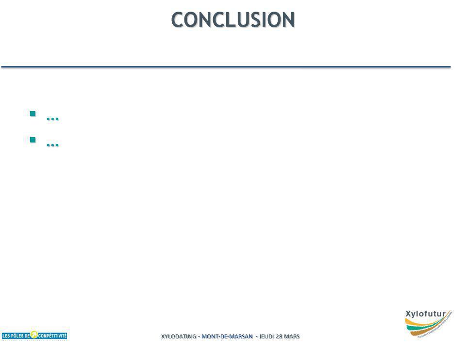 XYLODATING - MONT-DE-MARSAN - JEUDI 28 MARS CONCLUSION … …