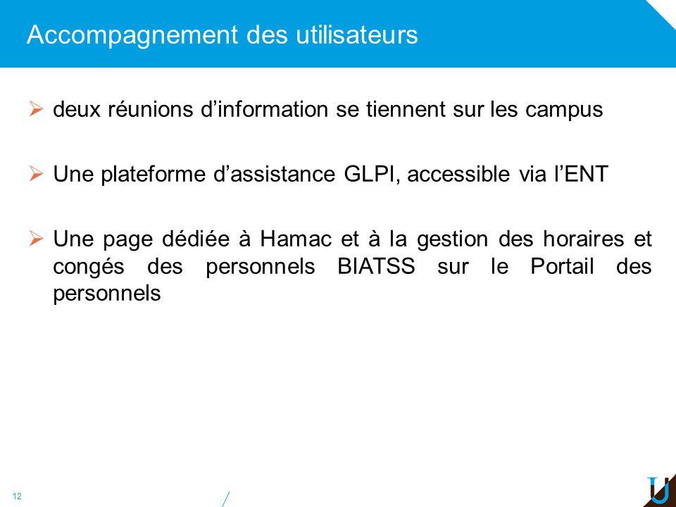 Accompagnement des utilisateurs deux réunions dinformation se tiennent sur les campus Une plateforme dassistance GLPI, accessible via lENT Une page dé