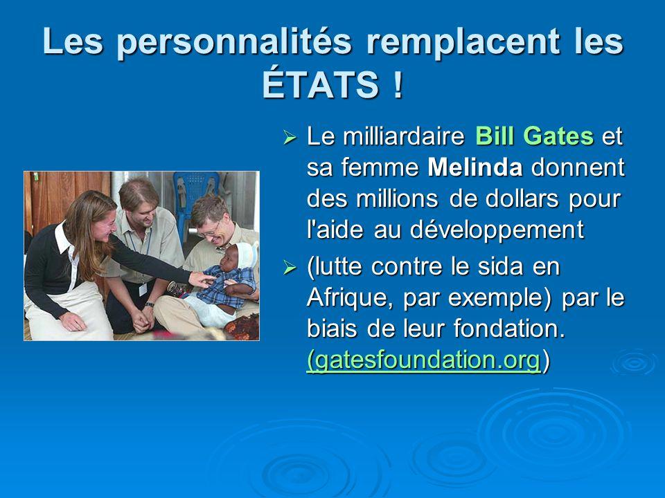 Les personnalités remplacent les ÉTATS ! Le milliardaire Bill Gates et sa femme Melinda donnent des millions de dollars pour l'aide au développement L