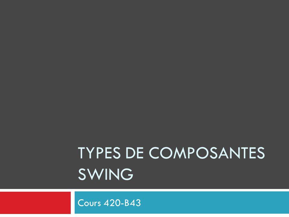 TYPES DE COMPOSANTES SWING Cours 420-B43