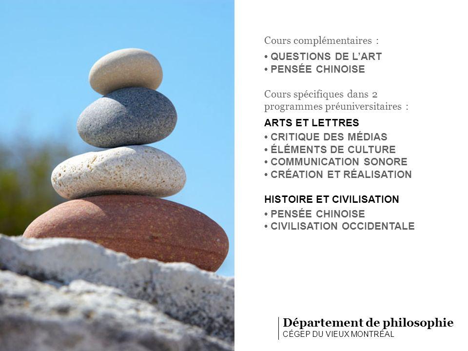 Activités et ressources… Département de philosophie CÉGEP DU VIEUX MONTRÉAL