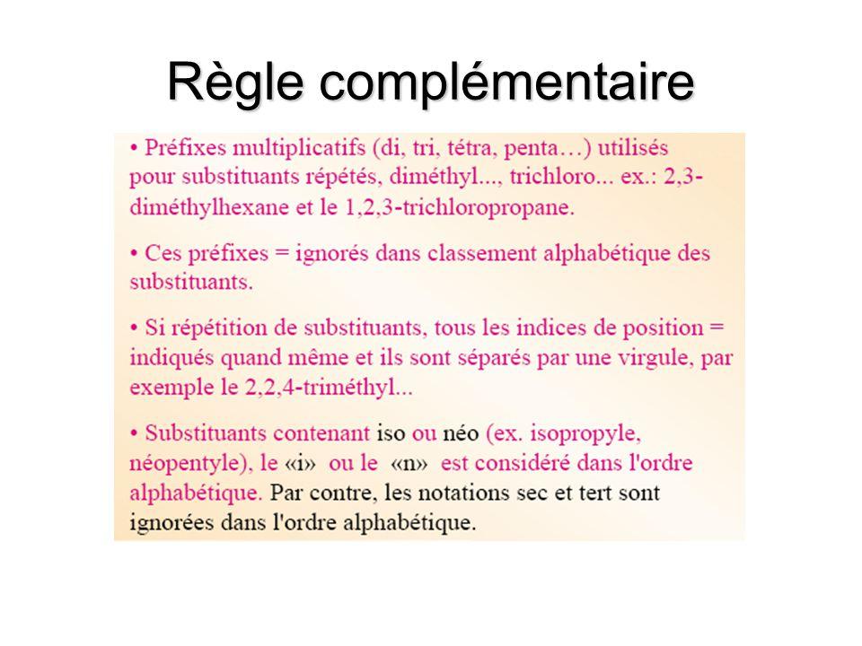 Règle complémentaire
