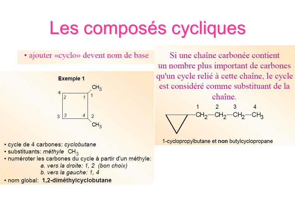 Les composés cycliques