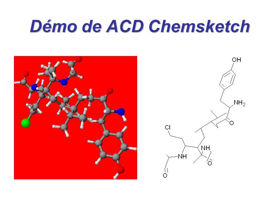 Démo de ACD Chemsketch