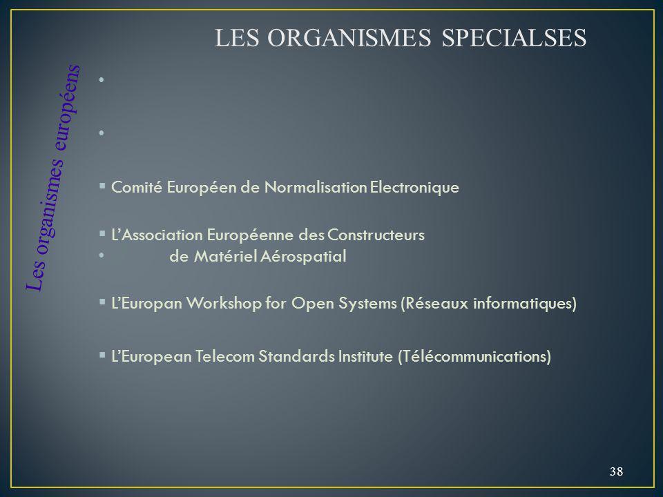 Comité Européen de Normalisation Electronique LAssociation Européenne des Constructeurs de Matériel Aérospatial LEuropan Workshop for Open Systems (Ré