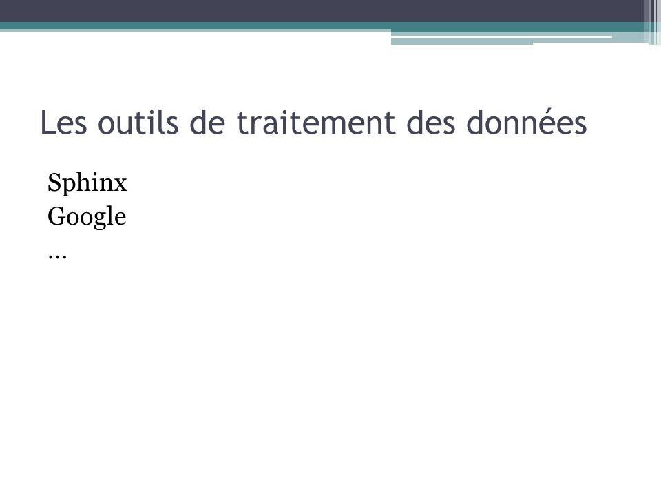 Les outils de traitement des données Sphinx Google …