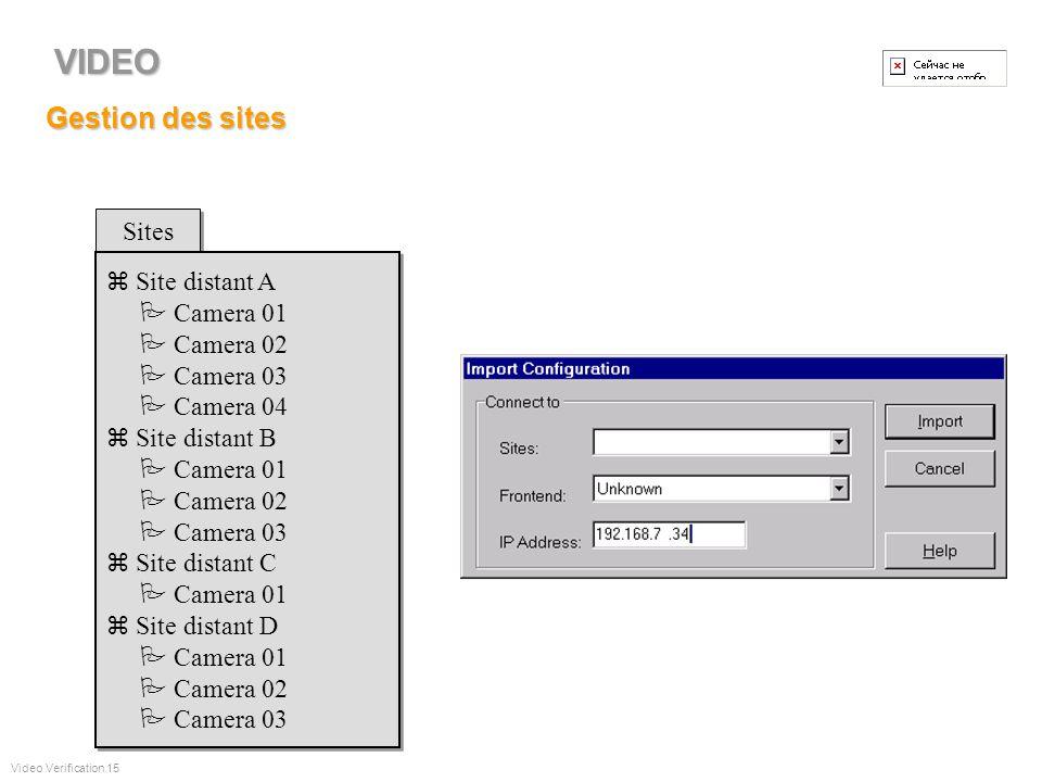Fonctionnalités Gestion sites distants Maintenance base de données Traitement dalarmes Levée de doute Gestion de sessions vidéo Accès rapide aux image